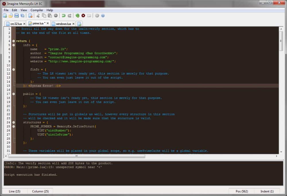 Imagine MemoryEx - Imagine MemoryEx LH Compiler